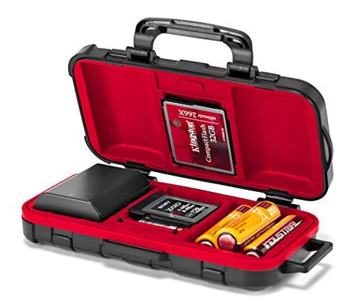 ROKO MCC-04 Mini koffer/etui voor 14 geheugenkaarten (CFast, CF, XQD, SD, Micro SD) en 2 camera-accu's
