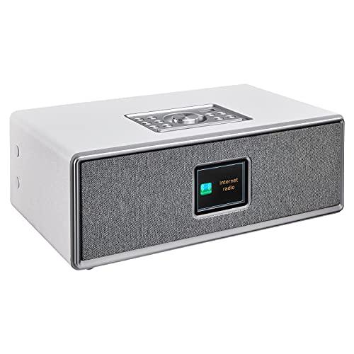 MEDION Life P85700 All in One Audio System (Internetradio, DAB+, UKW Radio, Bluetooth, Wandhalterung, USB, Kompaktanlage, Wecker, Nachtlicht) weiß