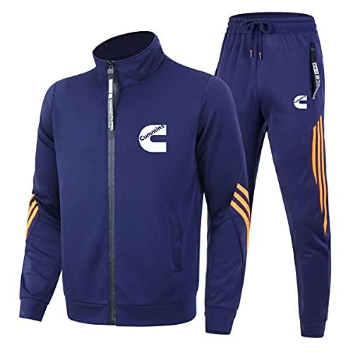 Cuello alto Tres Barras Ropa Deportiva Trajes Cu.mmins para Hombre/Mujer Casual Chándal Zip Cardigan Chaquetas y Pantalones