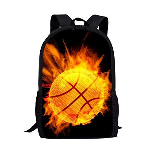 chaqlin Schulranzen und Lunchtasche für Jungen und Mädchen Mehrfarbig Basketball-3 Einheitsgröße