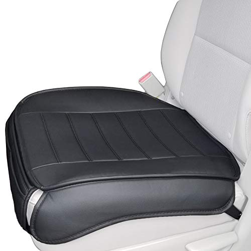 Price comparison product image Big Ant Edge Wrapping 2pc Car Front Seat Cushion Cover Pad Mat for Auto Supplies Office Chair with PU Leather(Black)