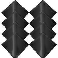 L-park 超極細繊維でサッときれい クリーニングクロス マイクロファイバー 20cm*20cm メガネ拭き カメラレンズ拭き 液晶クリーナー スマホ拭き 8枚入り(ブラック)