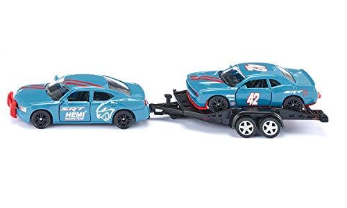 Siku 2565, Dodge Charger mit Dodge Challenger SRT Racing, Himmelblau, Metall/Kunststoff, 1:55, Öffenbare Türen