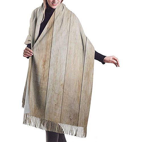 Bufanda de mujer Bufanda de pared de madera con focos de lámpara de bombilla Bufanda clásica de borla a cuadros Bufanda cálida de otoño e invierno