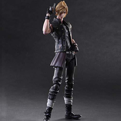 CJH Final Fantasy XV Action-Figur Prompto Argentum Play Arts Movable Modell handgemachtes Geschenk Spielzeug Dekorationen aus Final Fantasy 15 Peripherals Spiel Puppe Ornamente