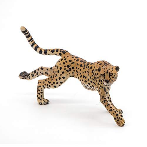 Papo 50238 - Statuina da corsa con ghepardo selvaggio, multicolore