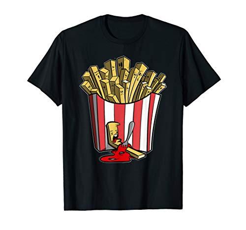 Pommes Shirt - lustiges Pommes mit Ketchup Drama Fun T-Shirt