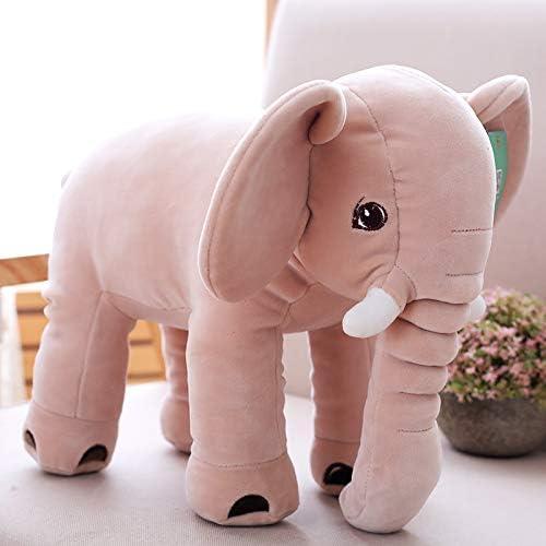 DONGER éléphant Jouet Poupée Bébé Accompagnant Sommeil éléphant Soins Oreiller De Corps Mou Enfant Cadeau d'anniversaire Poupée, Kaki, 30 Cm