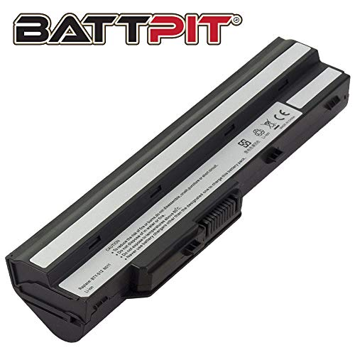 BattPit Laptop Battery for MSI BTY-S11 BTY-S12 Wind U100 U110 U115 U120 U123 U130 U135 U135 U135DX U210 U230 U270 - High Performance [6-Cell/4400mAh/49Wh]