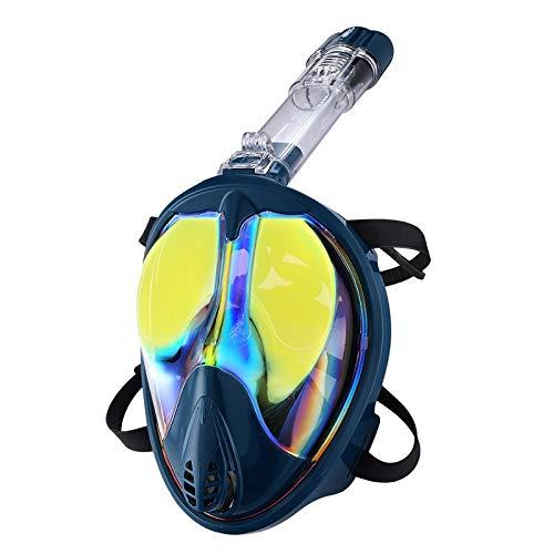 PXDM 180 ° Seaview Fácil Breathe máscara de Buceo de Adultos Snorkel y Buceo de apnea Silicona Gafas,Amarillo