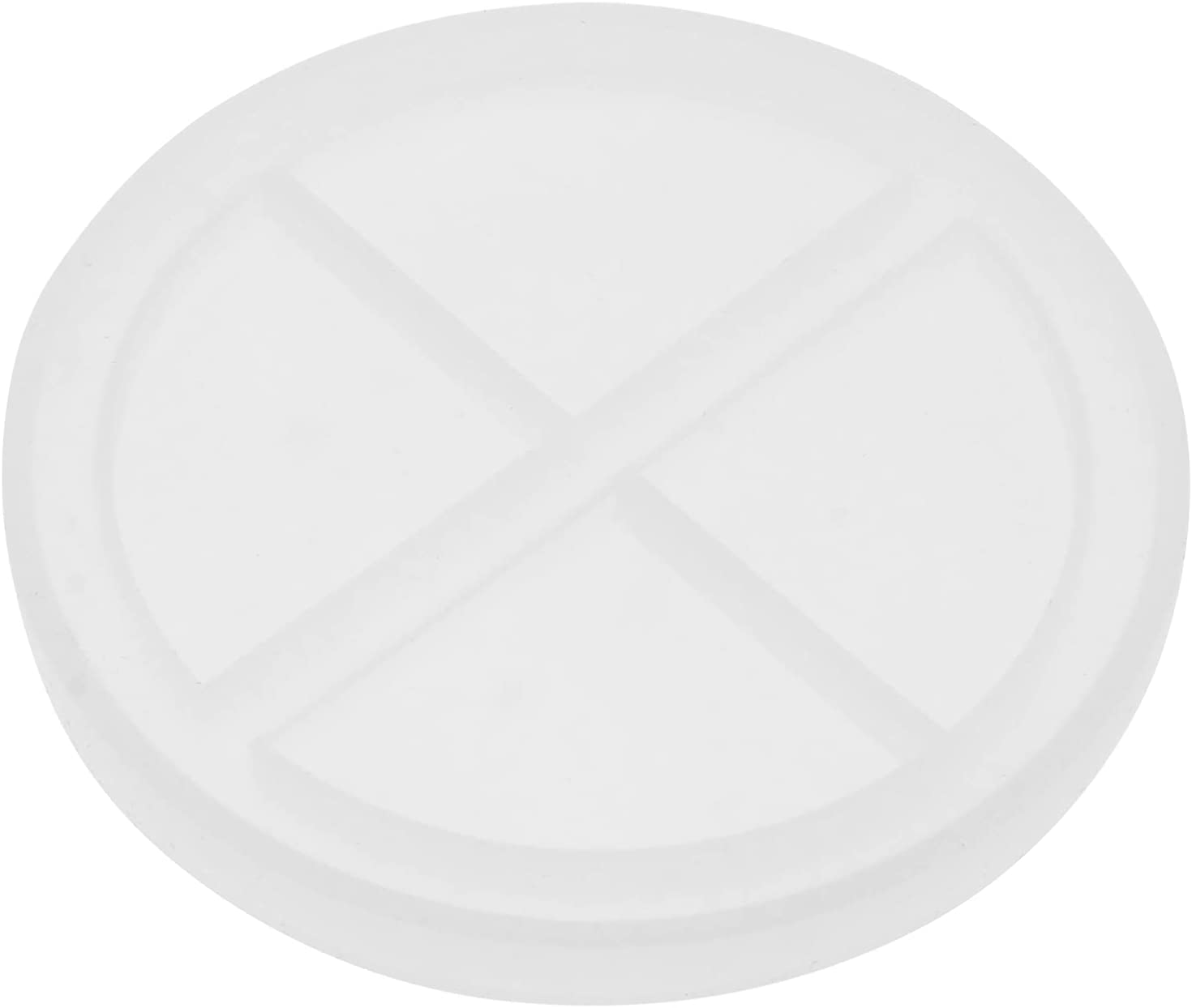 Ranking TOP14 VICASKY DIY Round Silicone Mold Epoxy Coaster Clear Popular standard