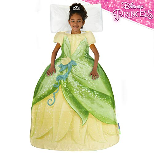 Blankie Tails | Disney Princess Dress Wearable Blanket  Double Sided Super Soft and Cozy Princess Minky Fleece Blanket  Machine Washable Fun Disney Blanket for Kids Tiana
