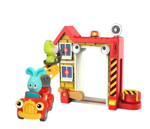 Ouaps - 61139 - Jouet De Premier Age - La Caserne De Pompier De Jojo Et Ses Amis