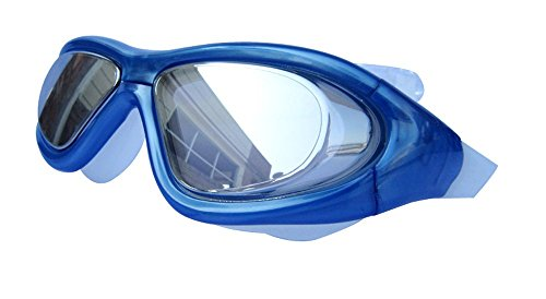 Qishi Super Big Frame No Press The Eye Swimming Goggles for Adult (Blue)