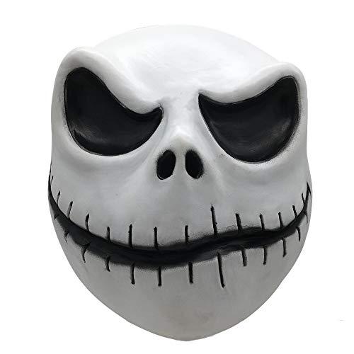 Yidali Horror Jack Skellington Vollmaske, Halloween Stadt Kürbiskönig Cosplay Party Requisiten Puppe Latex Maske Albtraum Horror Maske für Frauen Männer