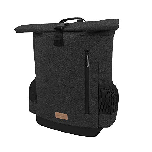 Ibera Bike Pannier Backpack - 2 in 1 Bike Bag, Large Capacity 15 L with Foldaway Shoulders Straps, Protective Inner Sleeve for 15.6' Laptop and Tablet