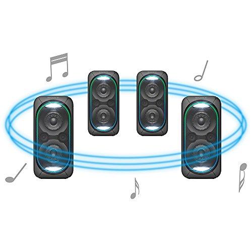 ソニーワイヤレススピーカー重低音モデル大型サイズBluetooth/PA対応マイクミキシング端子/ライティング機能搭載2017年モデルSRS-XB60
