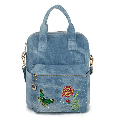 Backpack Travel Bag Lady Women Backpack Backpack For Teenage Girls Cowboy Design Fashion Butterfly Embroidery 996A
