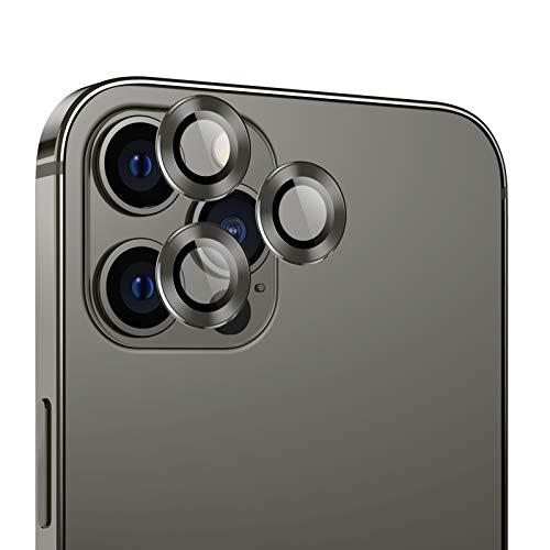 Bewahly Kamera Panzerglas Schutzfolie Kompatibel mit iPhone 12 Pro, HD Klar Panzerglasfolie 9H Härte Anti-Kratzer Anti-Dust Kameraschutz Linse Glas Folie für iPhone 12 Pro - Graphit