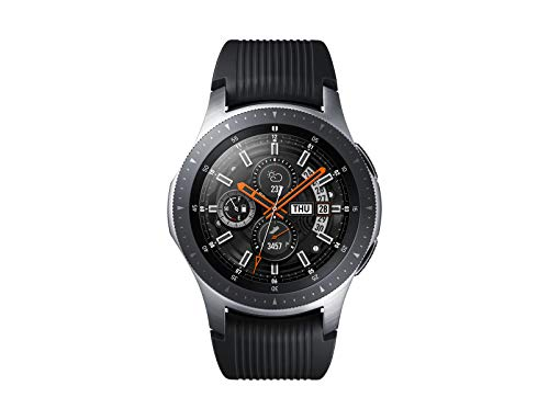 Samsung Galaxy Watch Smartwatch Android, Bluetooth, Fitness Tracker e GPS, Processore Dual Core 1.15 GHz, Resistente all Acqua fino a 5 ATM, Argento, 46 mm, Versione Italiana