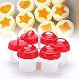 1 set da 6 pezzi per cuocere uova in camicia, uova in camicia, stampi in silicone, senza BPA