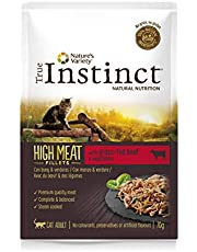 True Instinct High Meat Adult - Nature's Variety - Filetes con Buey para Gatos 70gr - Pack de 8
