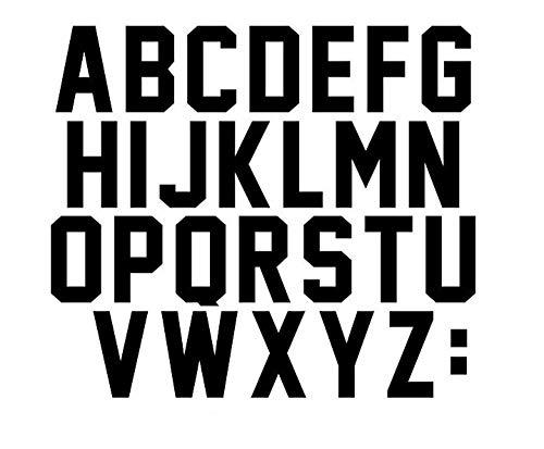 3 Inch Letters Iron On Heat Transfer Vinyl for Parade T Shirt Sports T-Shirt Jersey Football Baseball,Team,t-Shirt (Black)