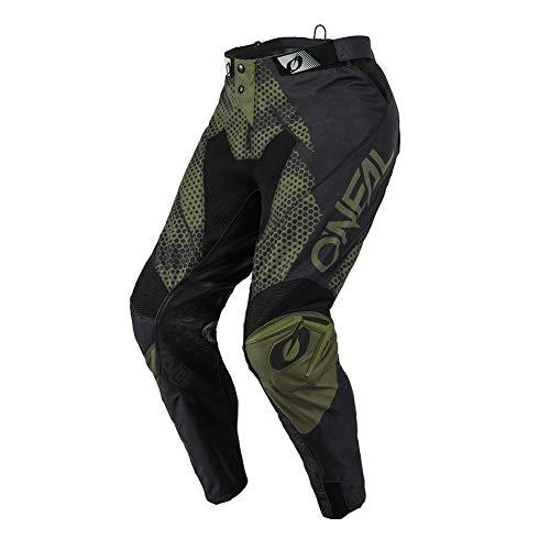 O'NEAL | Motocross-Hose | Enduro Motorrad | Strapazierfähige Denierstoffe, Mit großer Bewegungsfreiheit, Athletische Passform | Pants Mayhem Covert | Erwachsene | Schwarz Grün | Größe 30/46