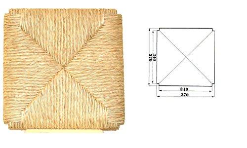 Okaffarefatto Maddaloni - Asiento de repuesto fabricado en madera y paja,-modelo: Sigfrido.