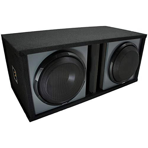 """Universal Car Stereo Paintable Ported 10"""" Alpine X-W10D4 Type X Car Audio Subwoofer Custom Sub Box Enclosure Package New"""