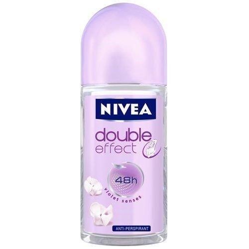 Nivea 100% quality warranty Deodorant Roll-on 1.7 Jacksonville Mall Fluid Ounce DOUBLE EFFECT W PACK