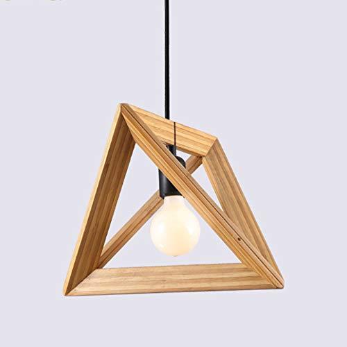 Lampara de techo, lampara colgante de madera, lampara colgante para mesa de comedor, oficina, bar, salon, dormitorio, madera moderna, colgante de lampara para restaurantes o cocinas.