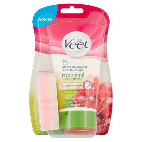 Natural Inspirations Enthaarungscreme in der Dusche mit Traubenkernöl 150ml