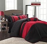Chic Home Fiesta 10-Piece Bed in A Bag Comforter Set, Queen, Red
