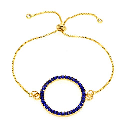 Pulsera Slider Chain Bracelets Bangles Fashion Jewelry Big Round Circle Pulsera Ajustable para Mujer Navidad