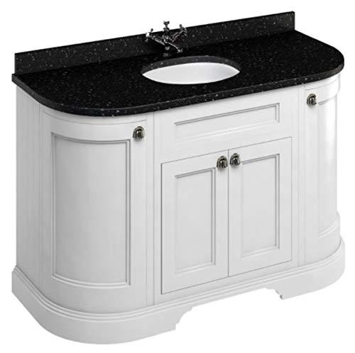 Casa Padrino Waschschrank mit Granitplatte und 4 Türen - Antik Stil Waschtisch, Farbe Badmöbel:mattweiß