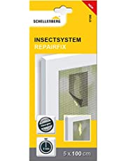 Schellenberg 57000 taśma naprawcza do moskitiery – 5 cm x 100 cm plaster z włókna szklanego, naprawa moskitiery