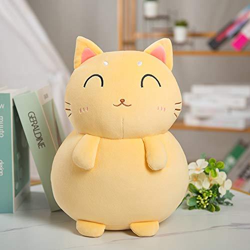 N / A 1 cute blessing cat plush toy stuffed stuffed cute cat fat doll cute animal pillow soft cartoon cushion kids 35cm
