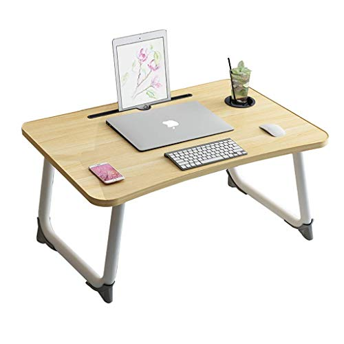 AOIWE Lap Desk, Laptop Desk On The Bed, Study Desk In The Student Dormitory In The Bedroom, Simple Foldable Small Lazy Desk (Color : A)