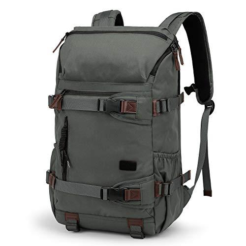 TAK Wanderrucksack Rucksack 40L Schulrucksack Reiserucksack Trekking Tagesrucksack,Wasserdichter, strapazierfähig und robust mit allerlei Stauraum, für das Camping, Wandern, Outdoor Sport, Grau