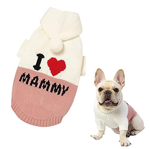 Banooo Haustier Hund Pullover Hunde Sweater Welpen Katze Overall Hund Weste Warme Strickwaren Haustier Baumwolle Kleidung Kostüm für kleine mittelgroße Hundekätzchen (Rosa, S)