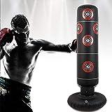 VIKMKM PVC Saco De Boxeo Hinchable 160cm Adulto para Muay Thai Kick Boxing Artes Marciales