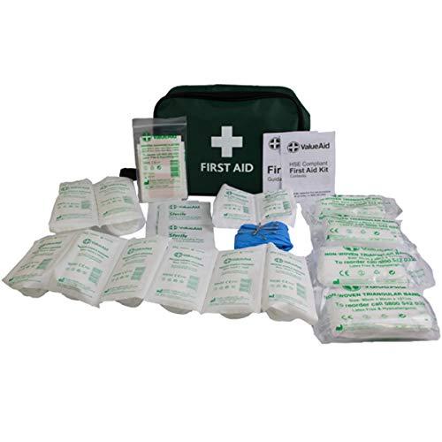 Value Aid Erste-Hilfe-Set für 1-10 Personen, HSE-konform, für Zuhause, Büro, Auto, Wohnwagen, Arbeitsplatz, Reisen