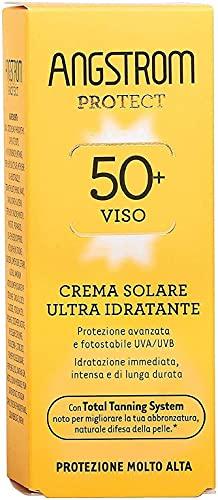 Angstrom Protect Crema Solare Viso, Protezione viso 50+ con Azione Ultra Idratante,...
