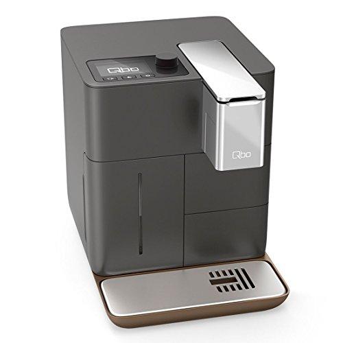Qbo You-Rista Kaffeemaschine (Alexa kompatibel) – Kaffee Kapselmaschine für Caffe Crema, Espresso und Caffè Grande (19 Bar, 1500 Watt) steuerbar via App, urban grey matt