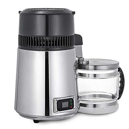 4L Haushalts Reines Wasser Distiller-Maschine Destilliertes Wasser Destillation Reiniger Filter Edelstahl-Glasglas Kohlefilter Pure Water Distiller Set