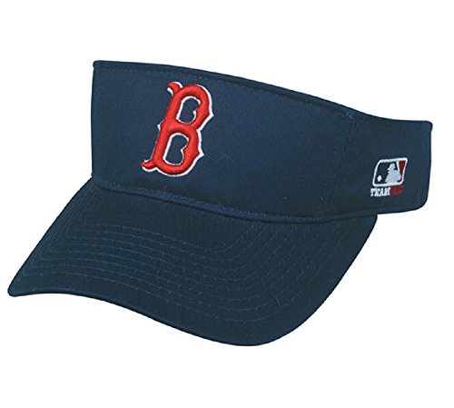 OC Sports Boston Red Sox MLB Sun Visor Golf Hat Cap Navy Blue w/Red B Logo Adult Men's Adjustable