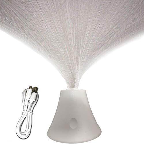 Táctil Fibra Óptica Lámpara LED Blanco Cálido Luces de Estado de ánimo USB Operado Luz de Noche para Decoración del Hogar Deshierbe Fiesta Regalo