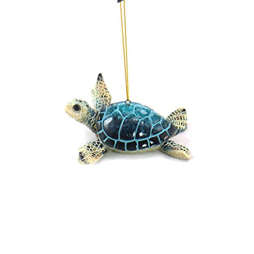 unison gifts YXF-182 4.25 INCH Blue SEA Turtle Ornament, Multicolor