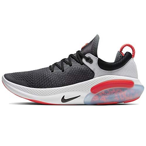 Nike Men's Joyride Run Flyknit Running Shoes (11.5, Dark Grey/Bright Crimson/Pure Platinum)